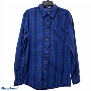 Magellan Outdoors Classic Fit Plaid Button Down